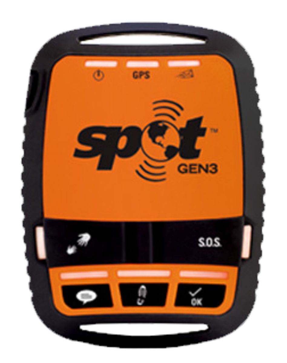 A satellite-based tracking device the Spot Gen 3.