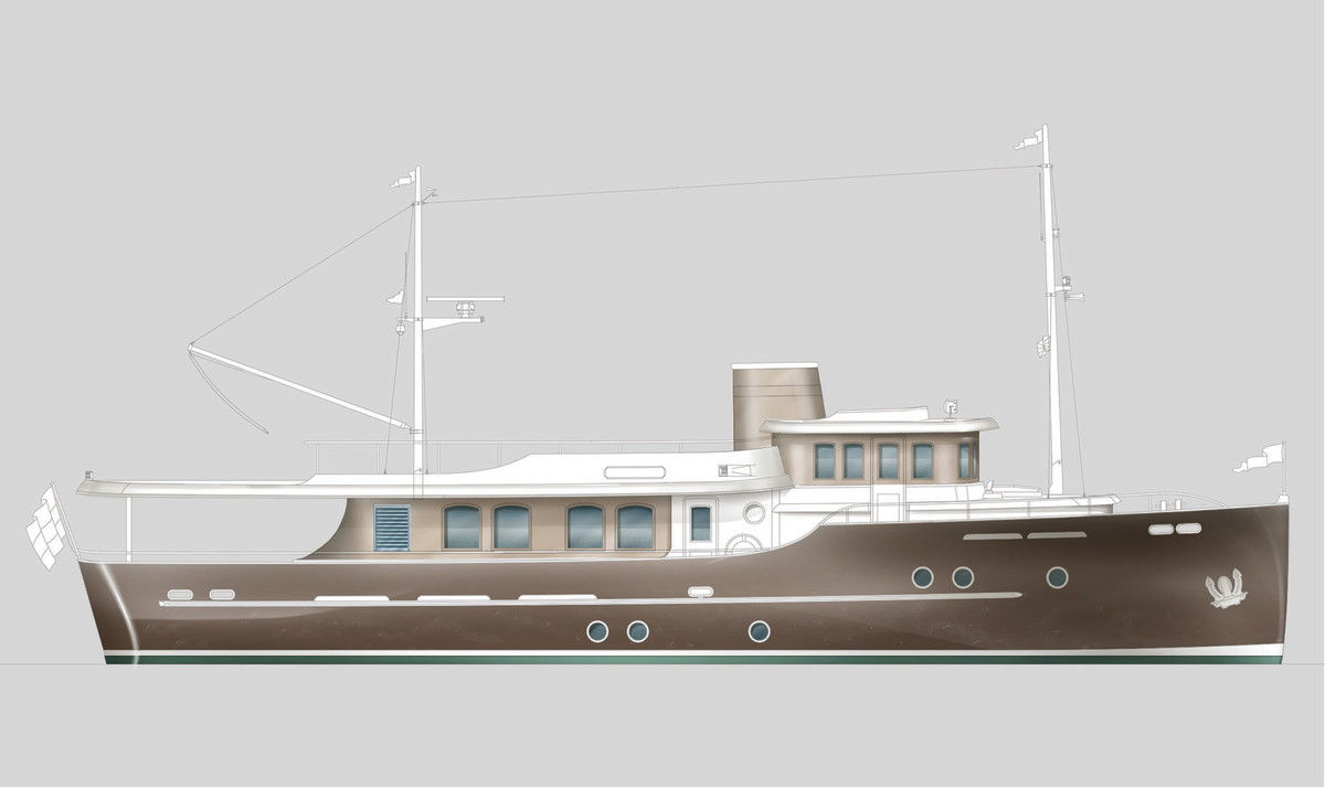Rendering of the Hartman Yachts Livingstone 24