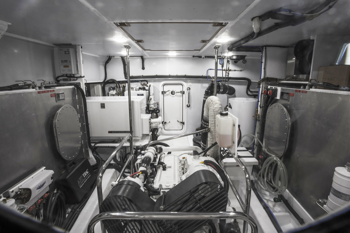 An engine room fit for a king with 6.5 to 7 feet of headroom.