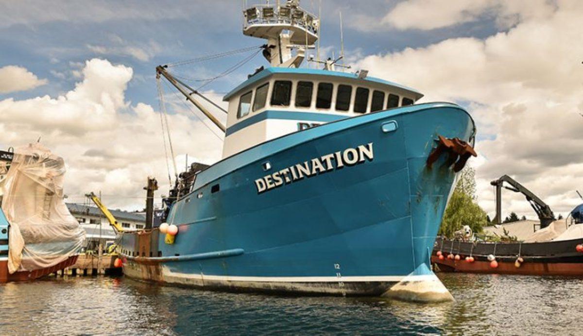 FV Destination in Seattle prior to her fateful last voyage.