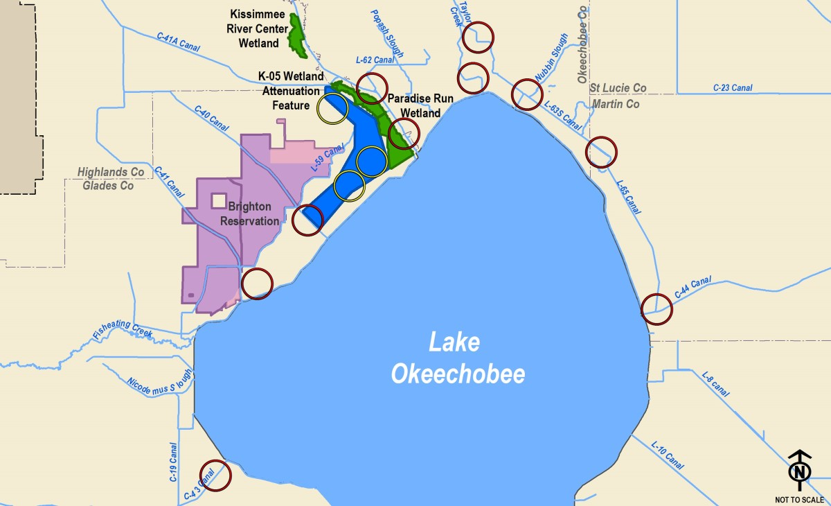 Lake Okeechobee Watershed Restoration Project map 2018