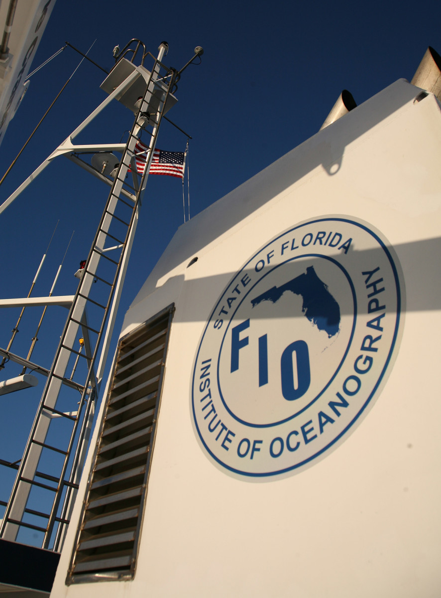 The RV Hogarth is operated by the State of Florida Institute of Oceanography.