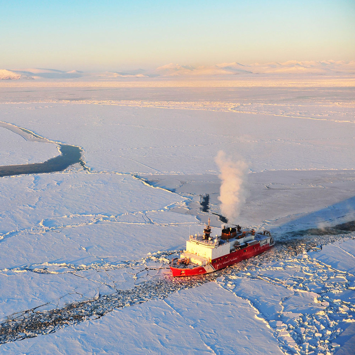 In this 2006 file photo, Healy breaks ice for the Russian tanker Renda near Nome, Alaska.