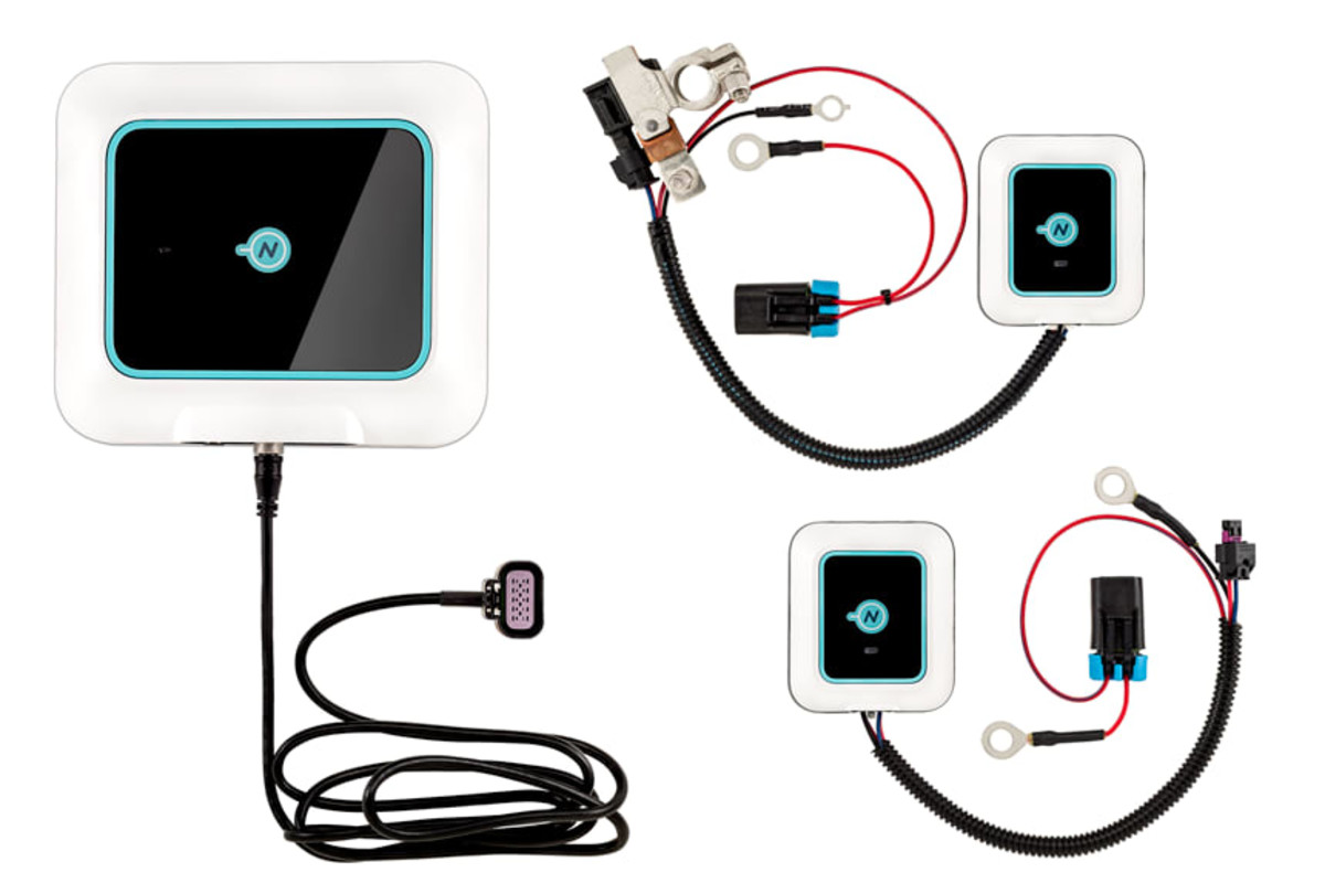 Nautic-On hub, battery sensor, and bilge pump sensor.