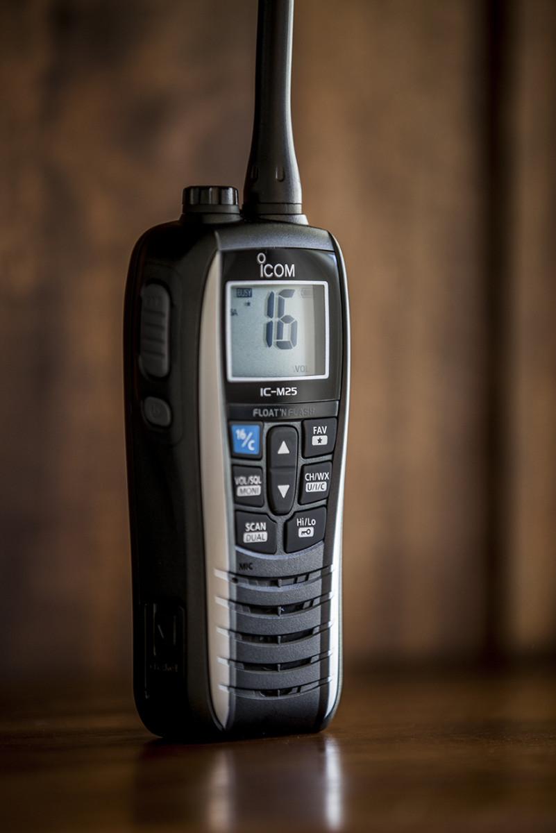Icom M-25 handheld VHF.