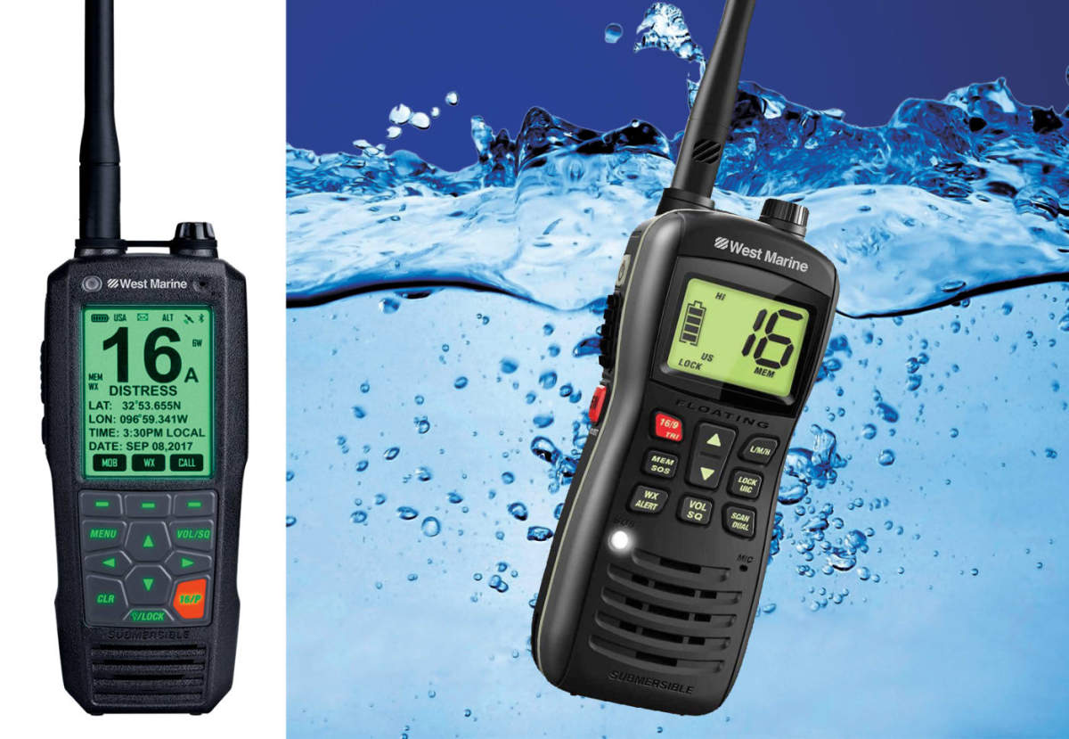 Being on a boat, opt for a handheld VHF that is at the very least highly water resistant. We prefer one that floats!
