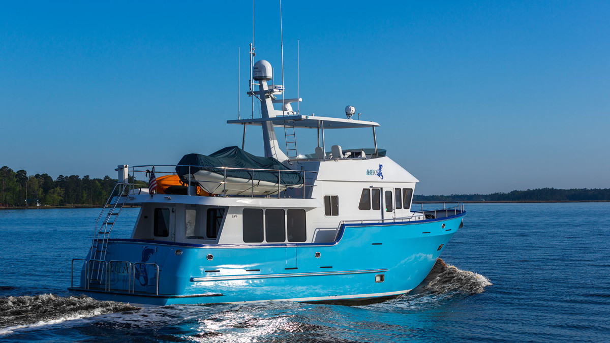 Northern Marine 57, bold and confident at sea.