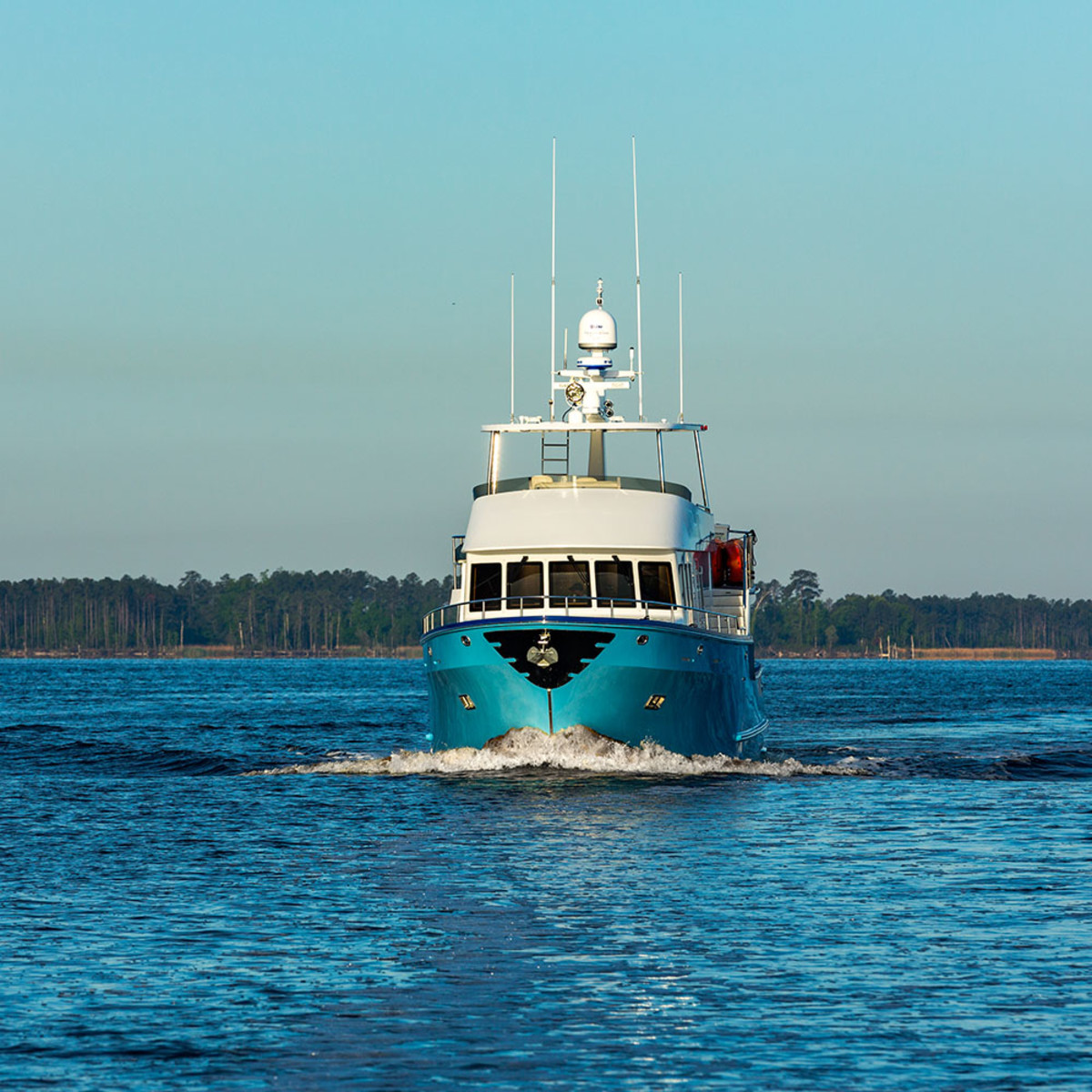 Jay Bernstein's Northern Marine 57, Agave. After taking delivery of his boat Jay took ownership of the company as well.