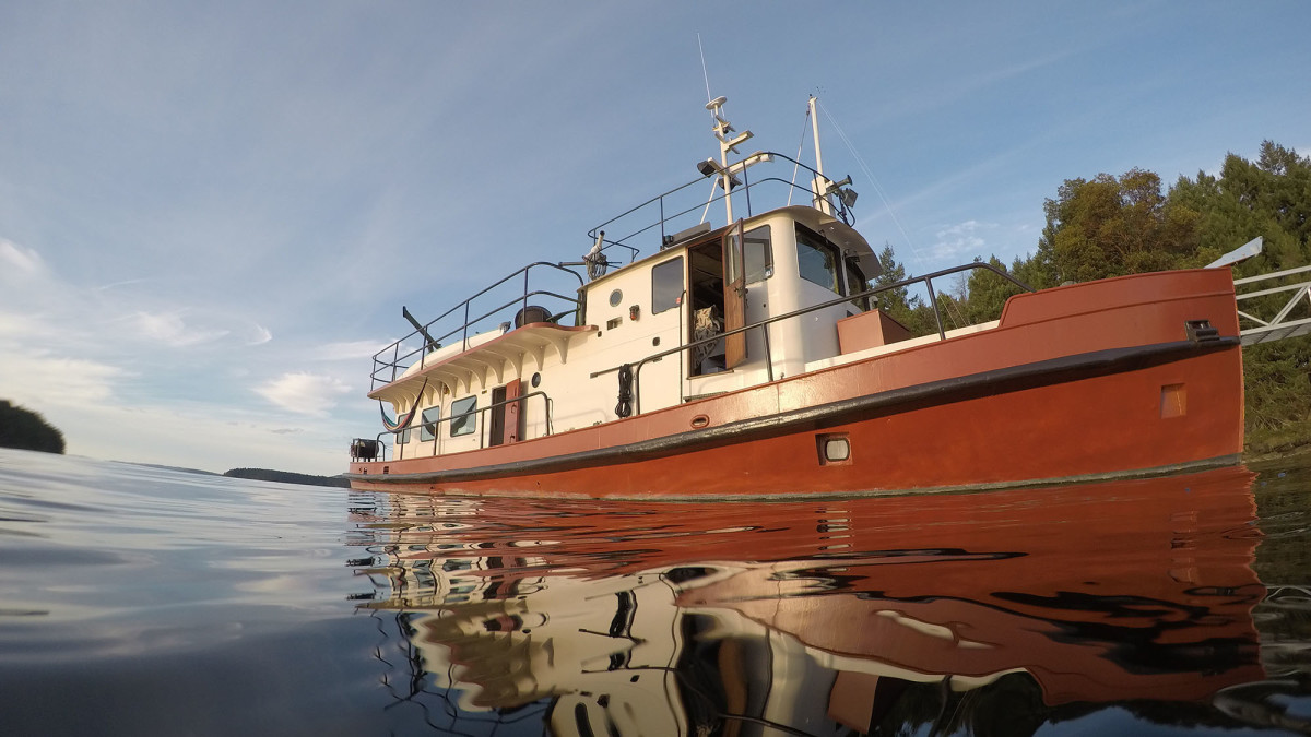The restored and renovated 1956 harbor patrol boat.