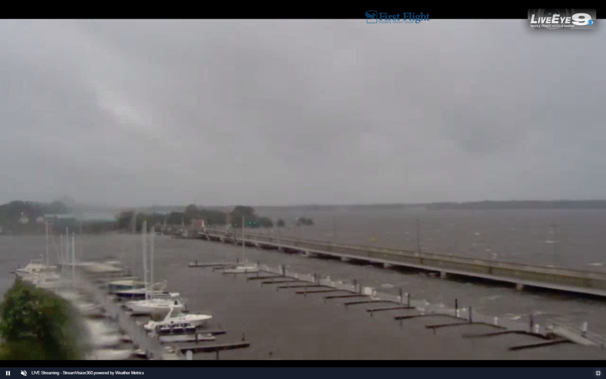 A screen capture from the LiveEye 9 webcam, now offline