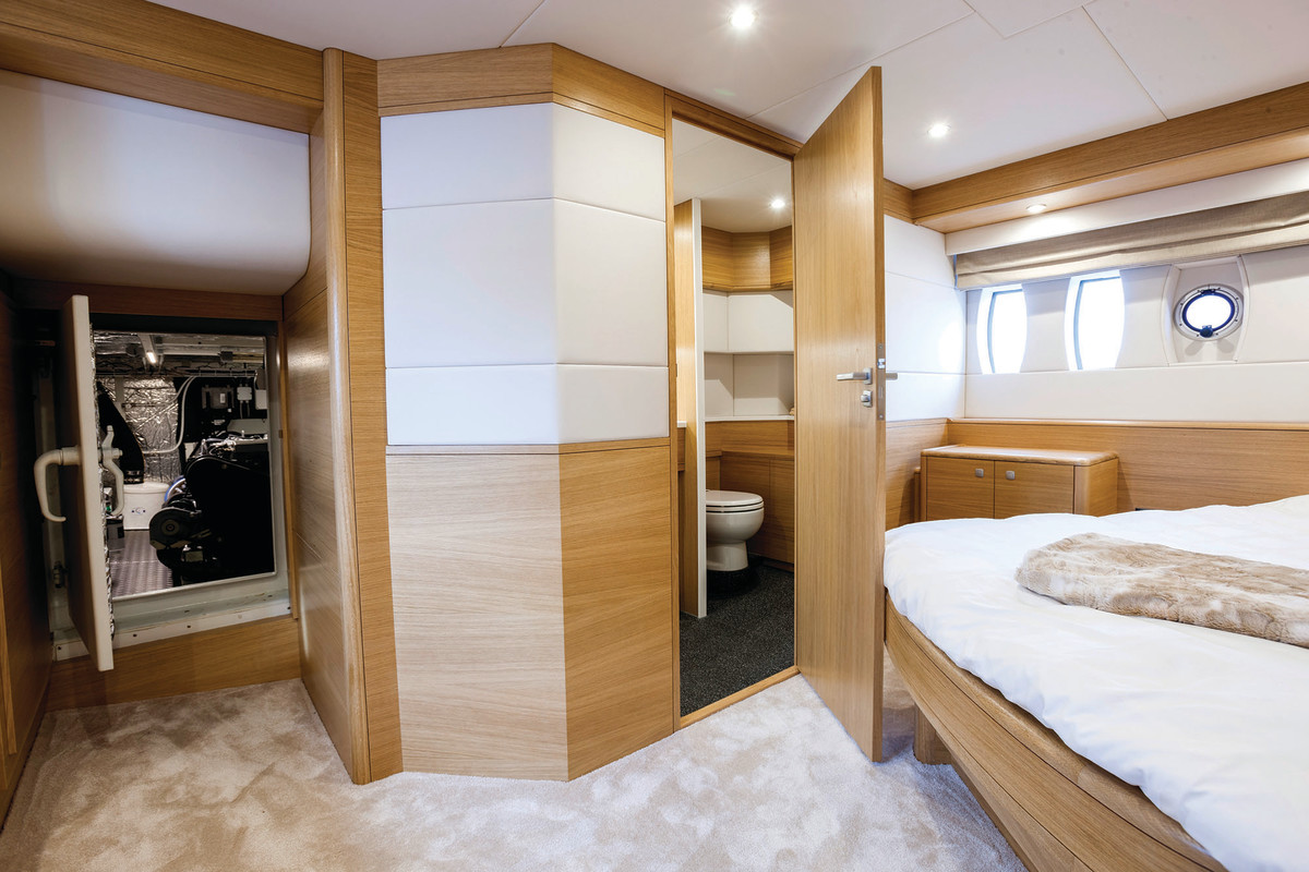 Easy access to the engine room from the master cabin.