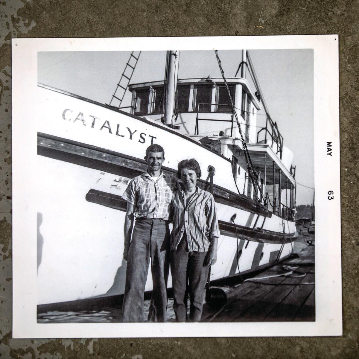 Pete's parents in front of Catalystin California.