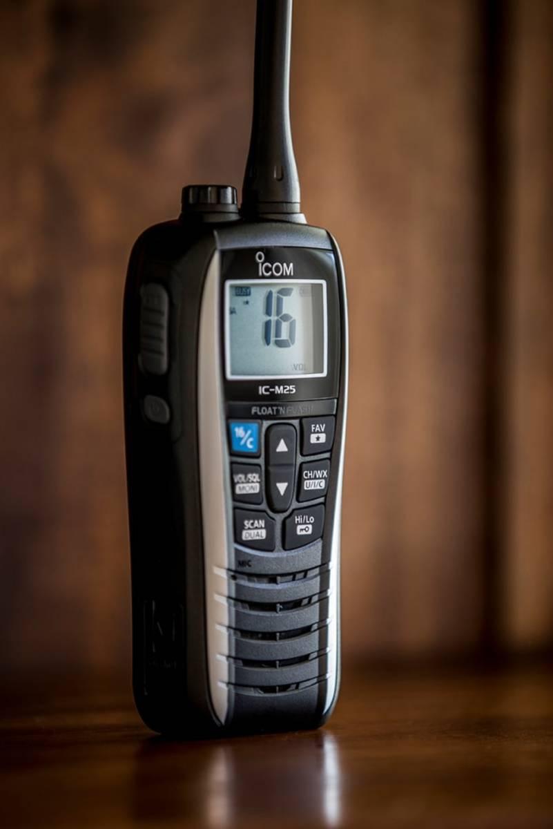 Icom M25 Handheld VHF Radio.
