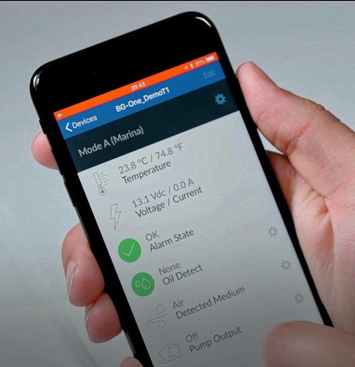 configuration via mobile app.