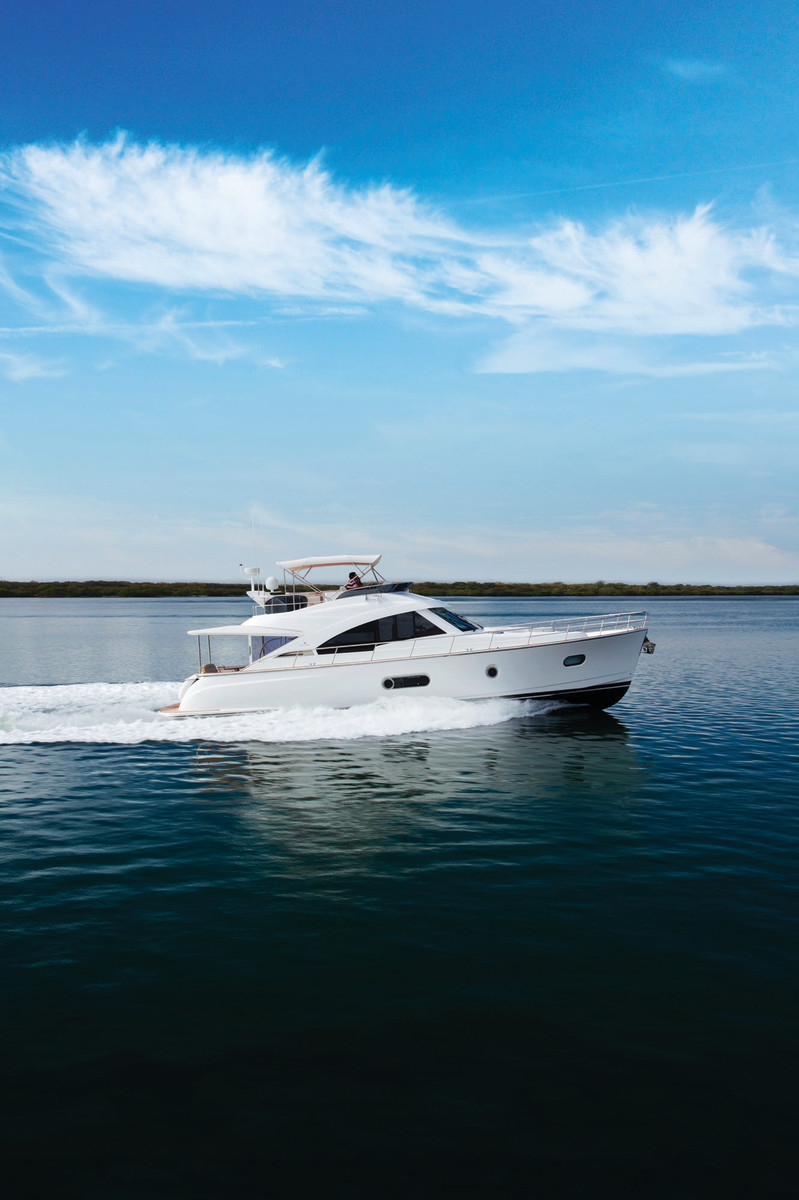 The Belize 54 exhibits stellar preformance, stability, and handling.