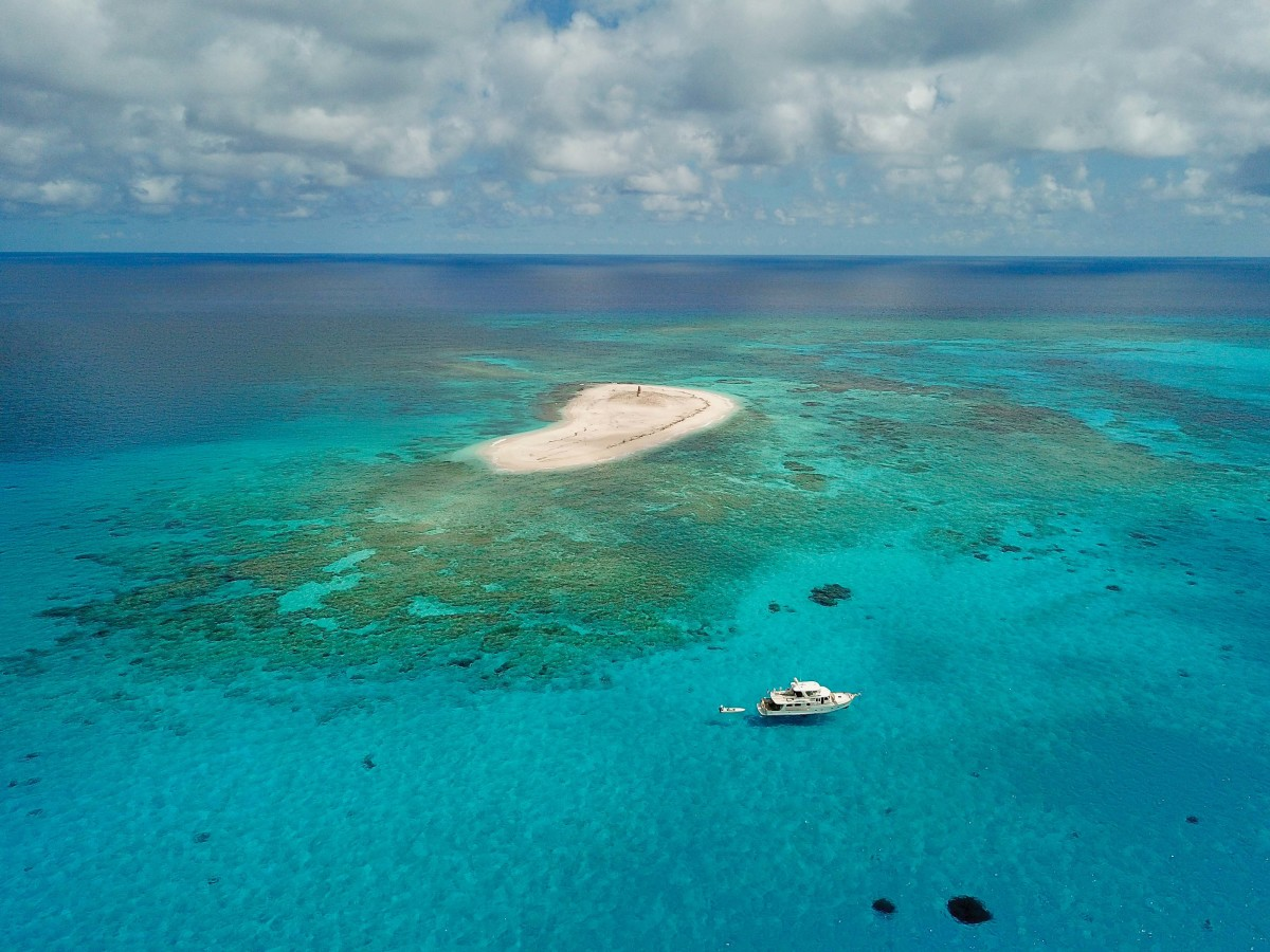 Perhaps the most remote anchorage in The Bahamas: Hogsty Reef Atoll.