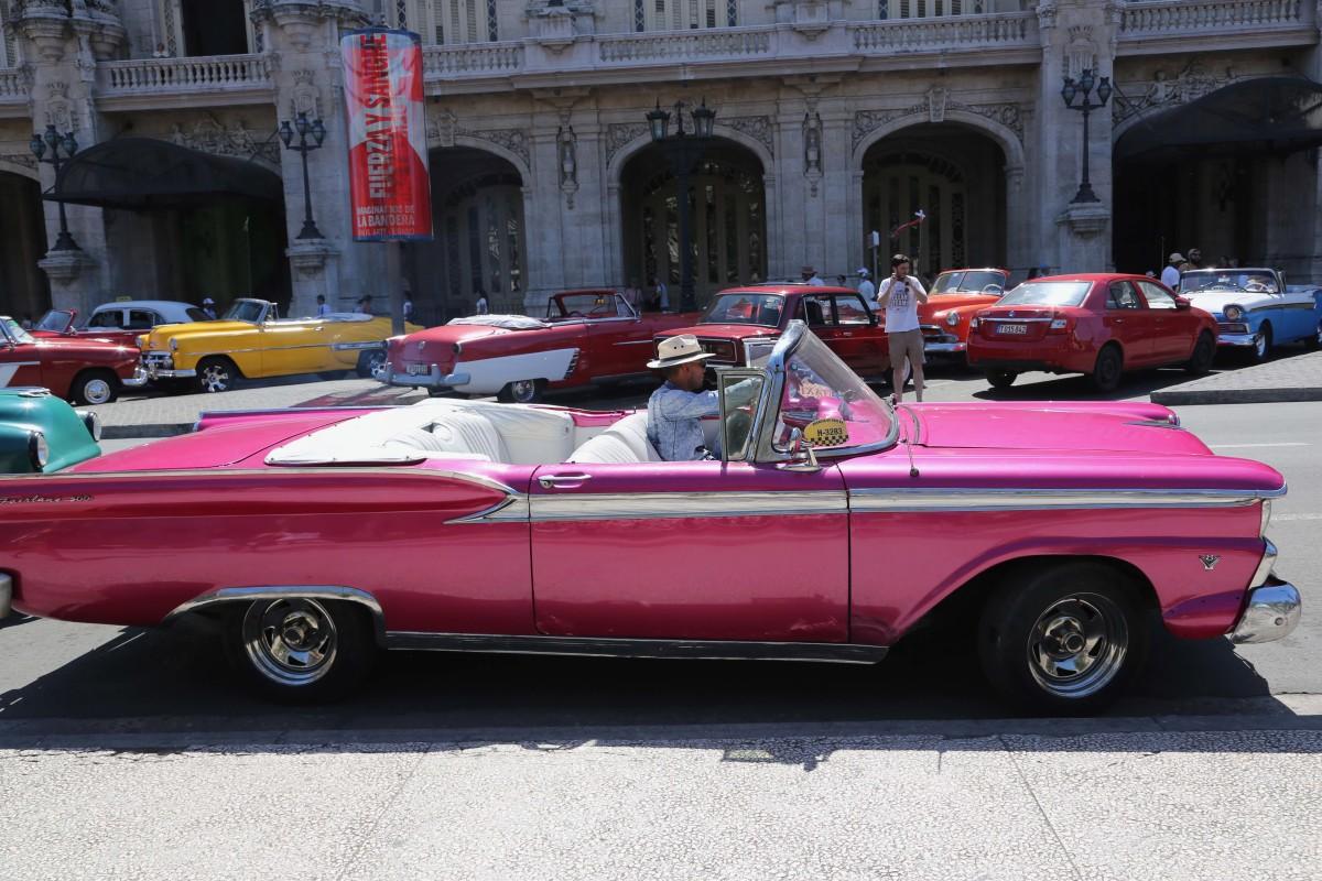 Classic American car in Cuba.
