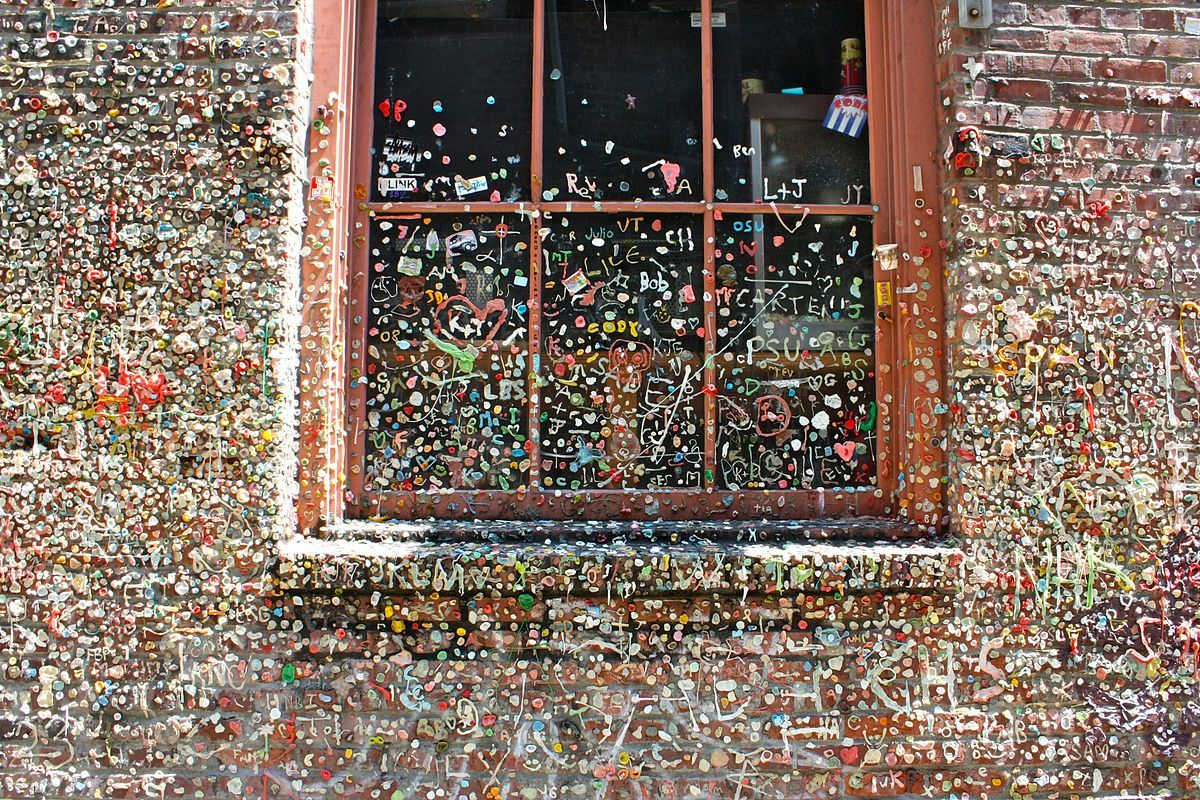 Of course, how could you ever miss the gum wall, within walking distance of Bell Harbor Marina? It's a place that really sticks with you.