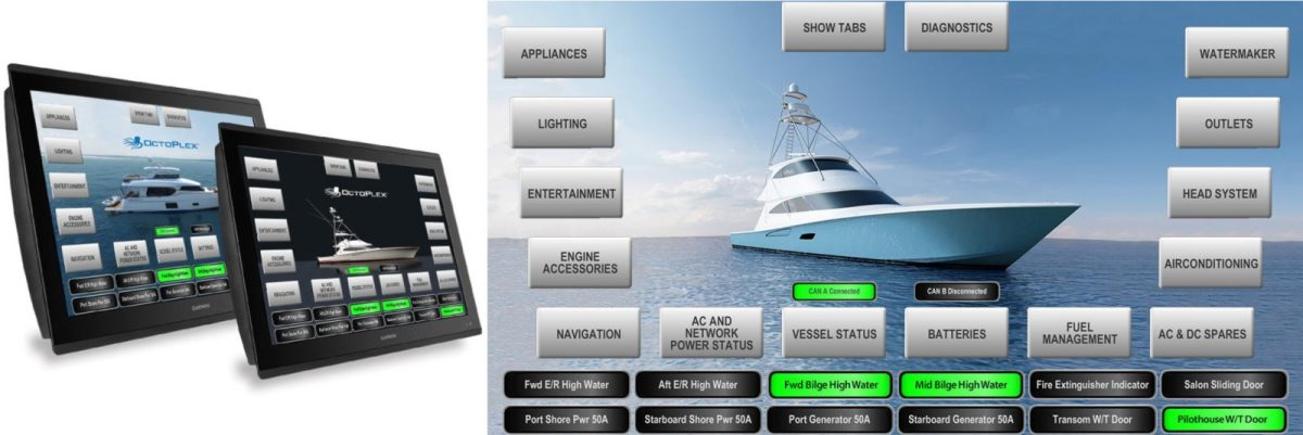 Carling Octoplex can also use Garmin OneHelm integration.