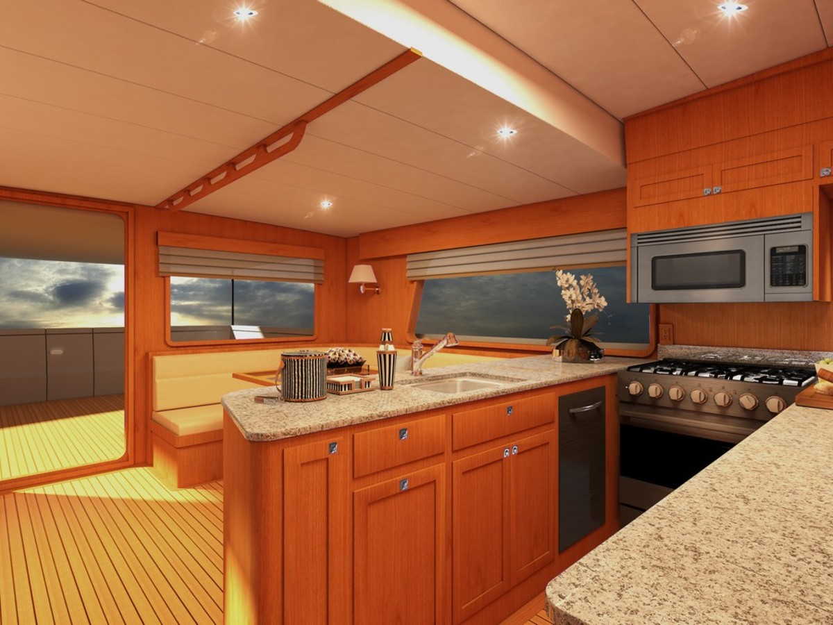 Rendering of galley/saloon