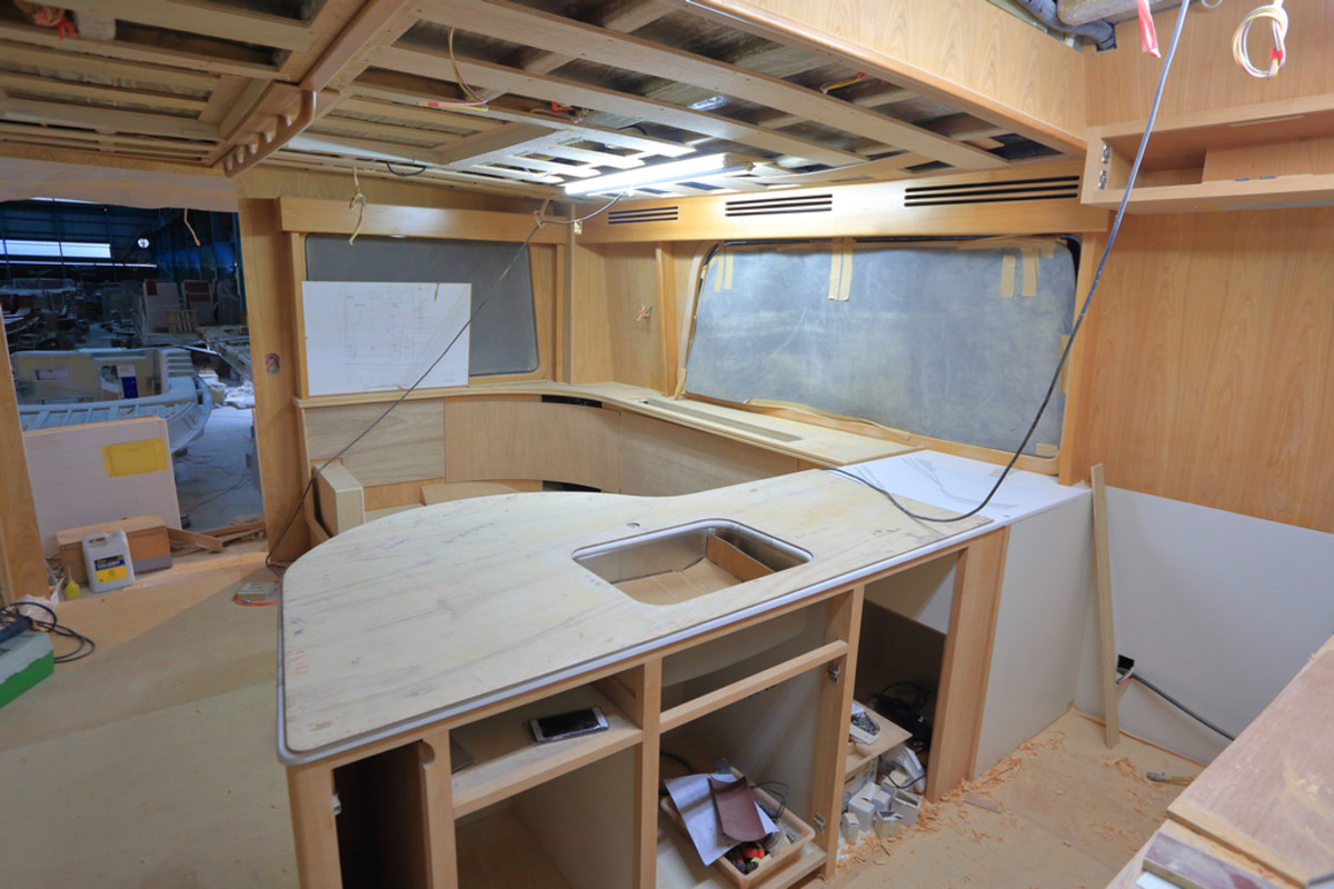 Galley/saloon under construction