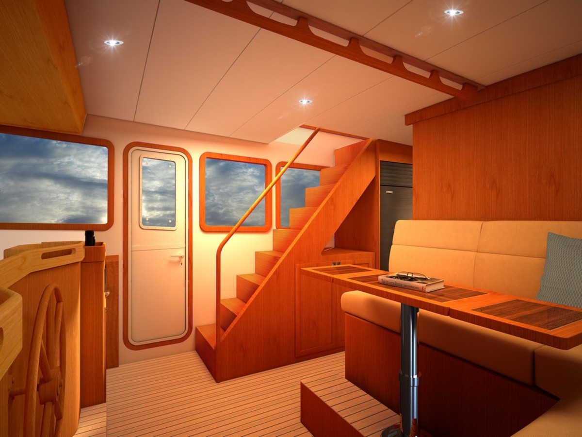 A rendering of the pilothouse