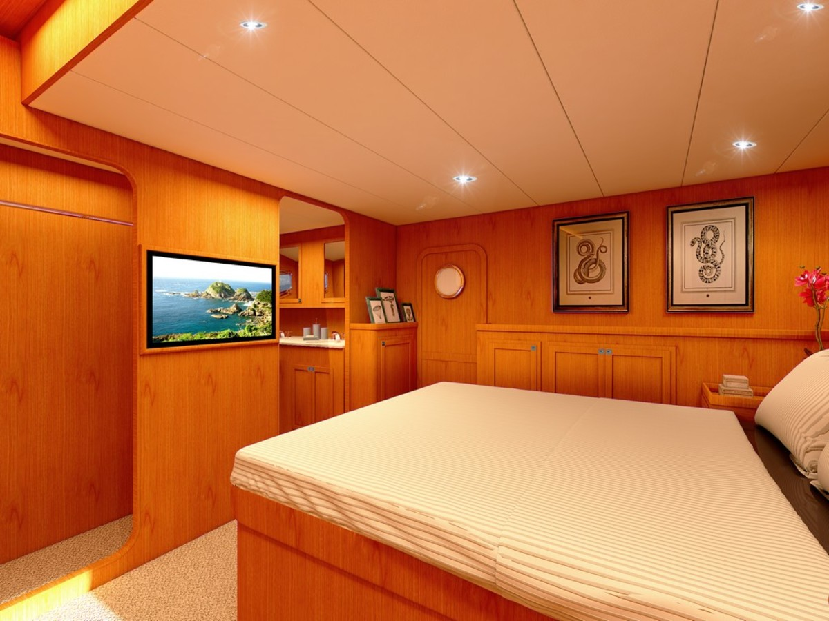 Rendering of midship master stateroom