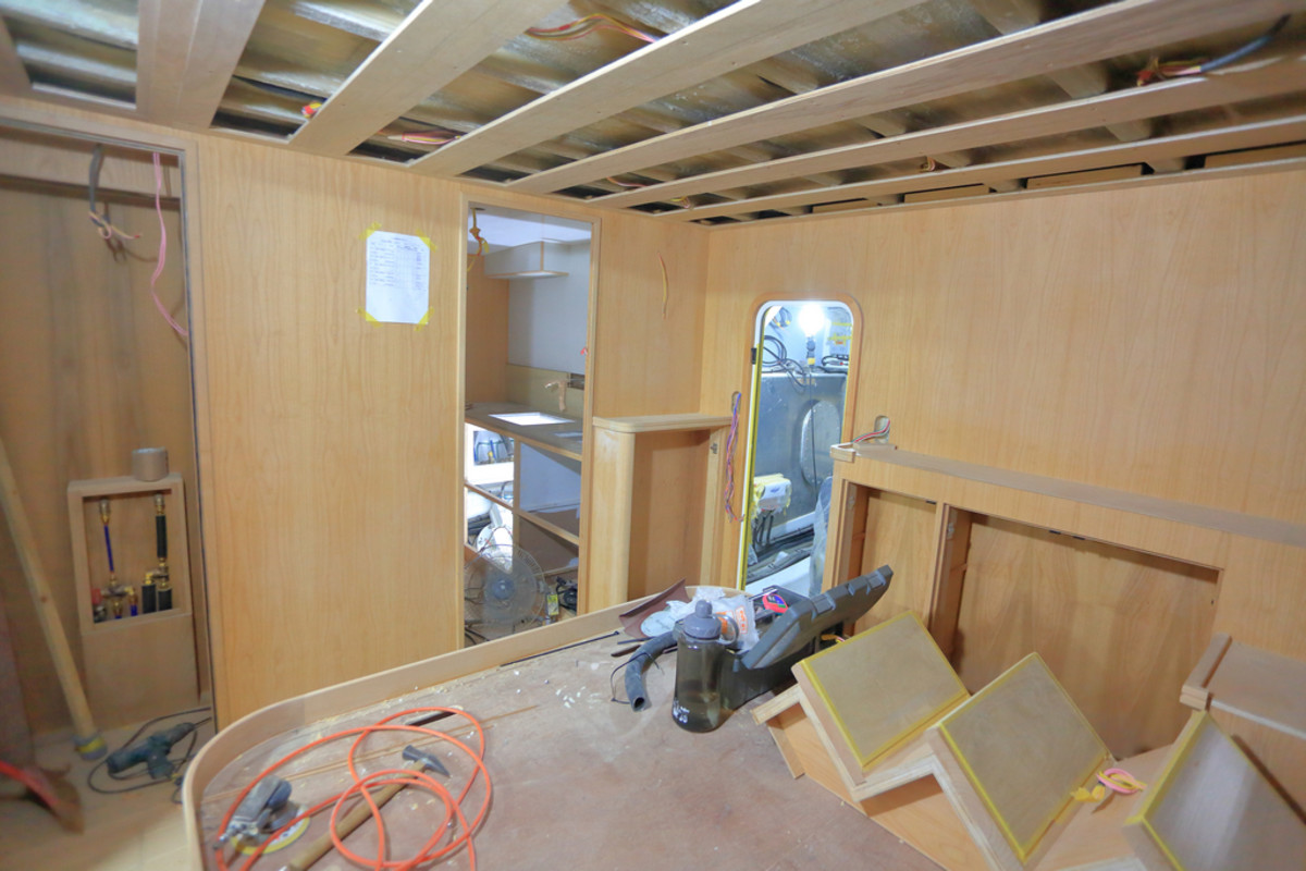 Master stateroom under construction