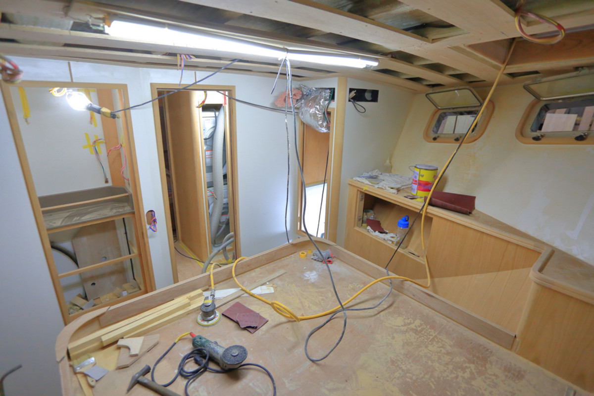 Guest stateroom under construction