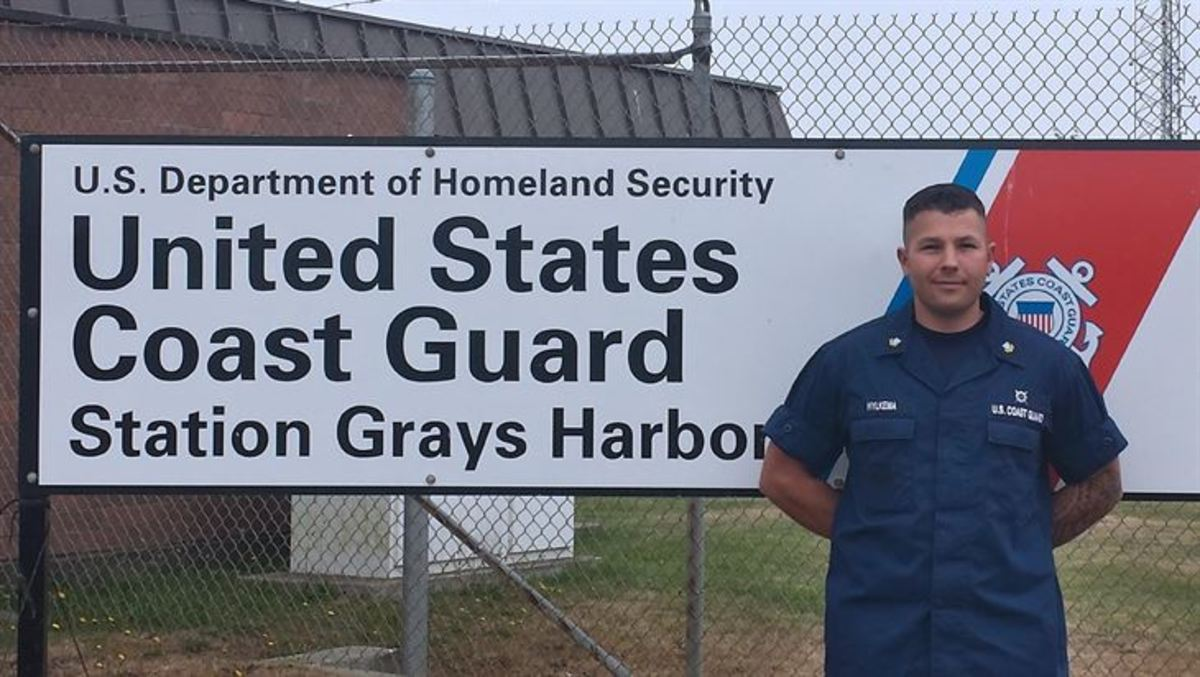 Coast Guard Petty Officer 2nd Class Jacob Hylkema