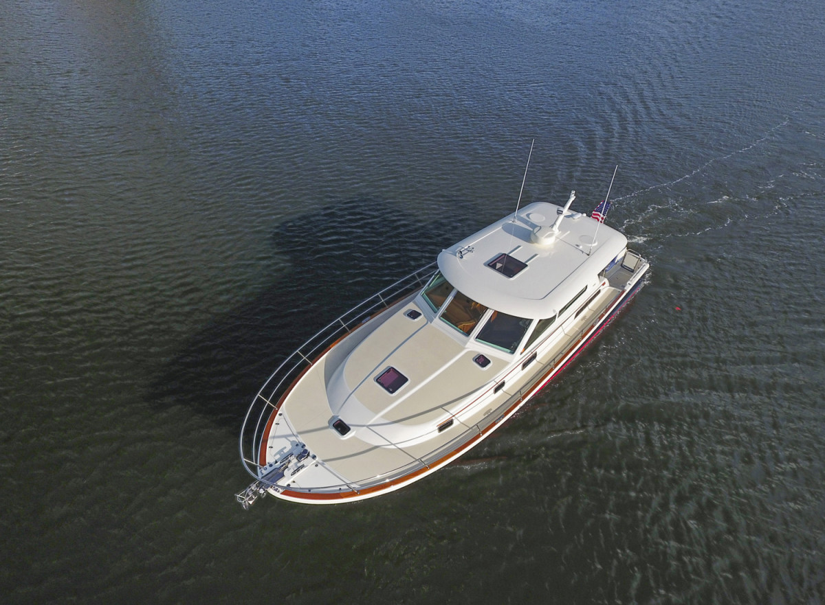 An aerial view of the Sabre 45 Salon Express.