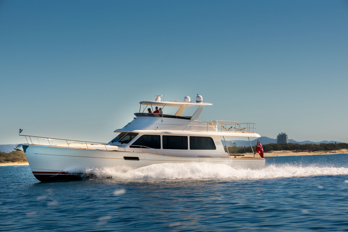 The new Grand Banks 60 is still a classic long range cruiser that now has the ability to pick up and go 30 knots.