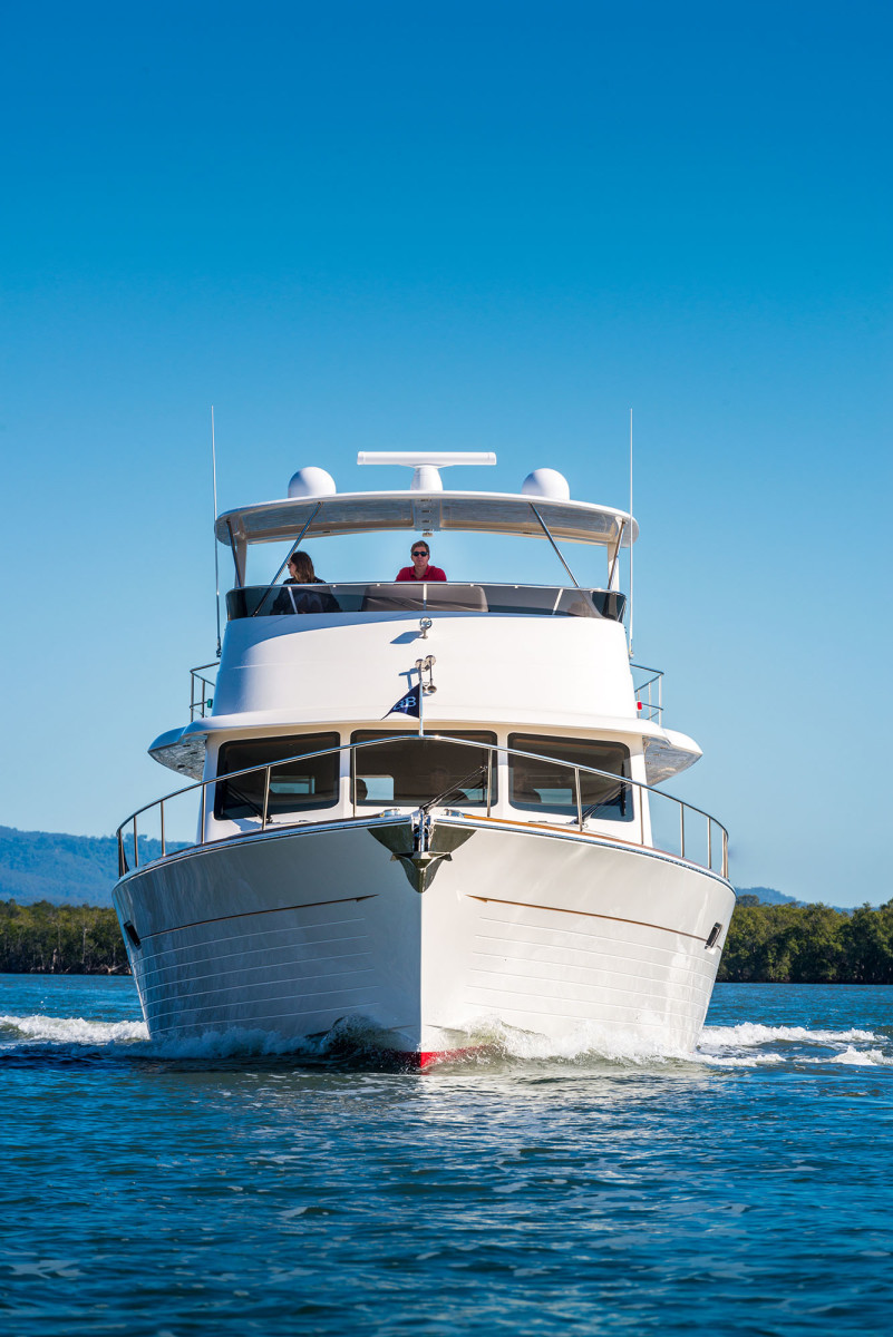The Grand Banks 60' is a very well balanced boat.