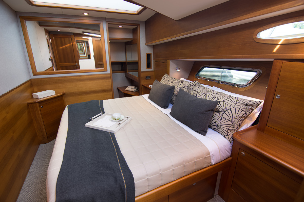 The Grand Banks 60' features spacious and comfortable accommodations.