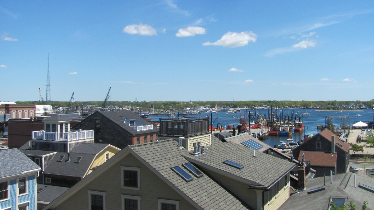 The view from the roof of the Whaling Museum.
