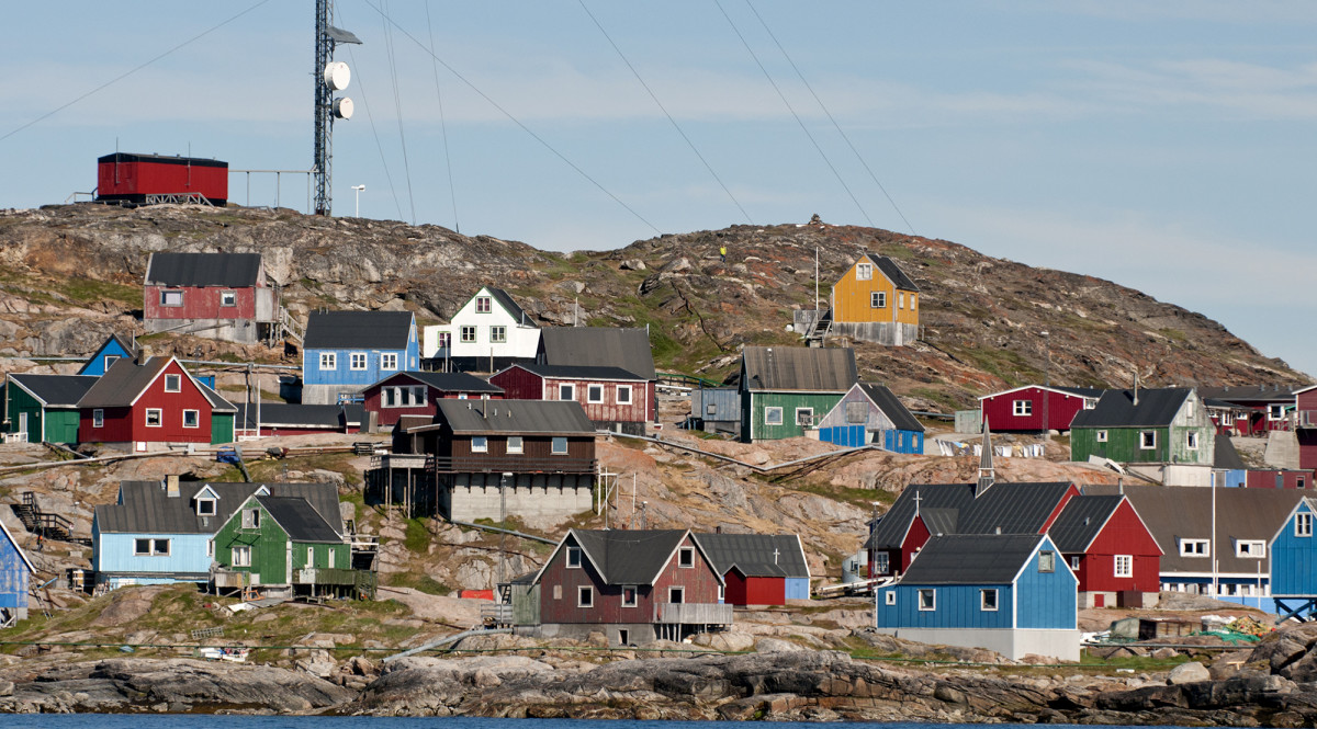 The abandoned port of Faeringhavn once served Faeroese fishermen.