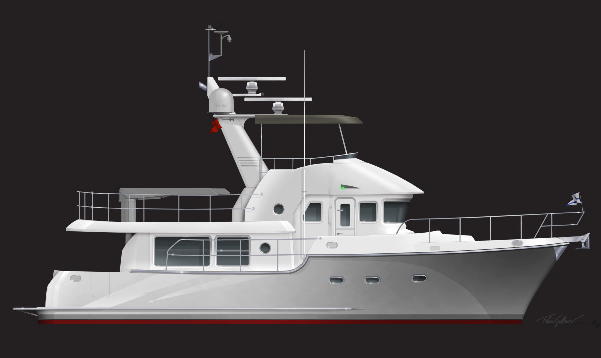 Nordhavn 475 extends the N43 and will be priced comparably.