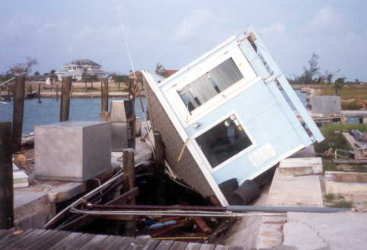 The dockmaster's office capsized.