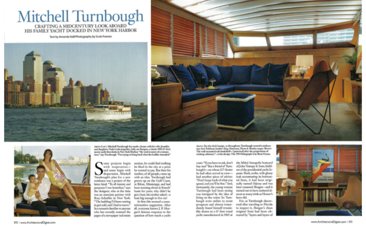 The opener spread in Architectural Digest