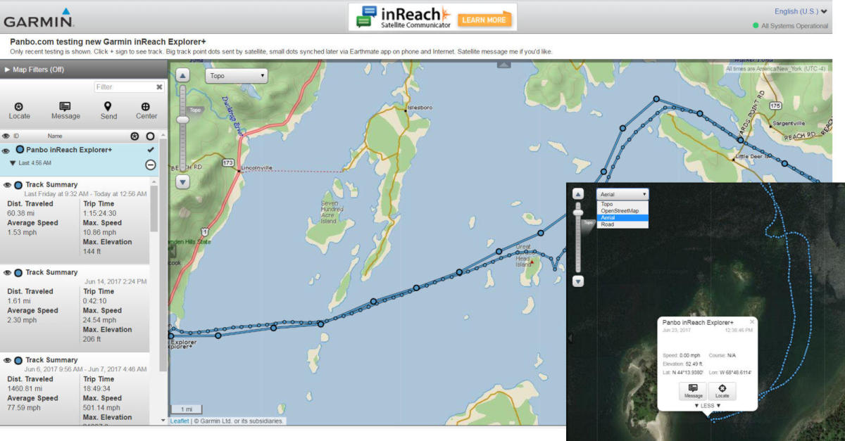 For local cruising, more detailed tracking points can be helpful for analyzing your route in Mapshare.