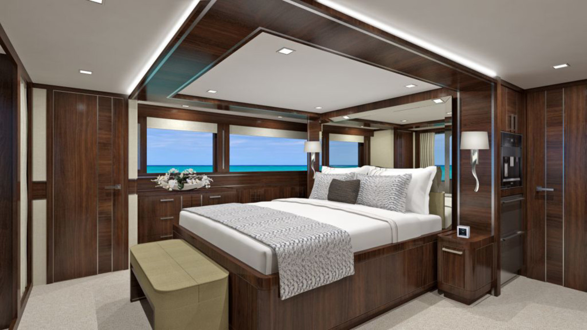 All five staterooms have en-suite heads.