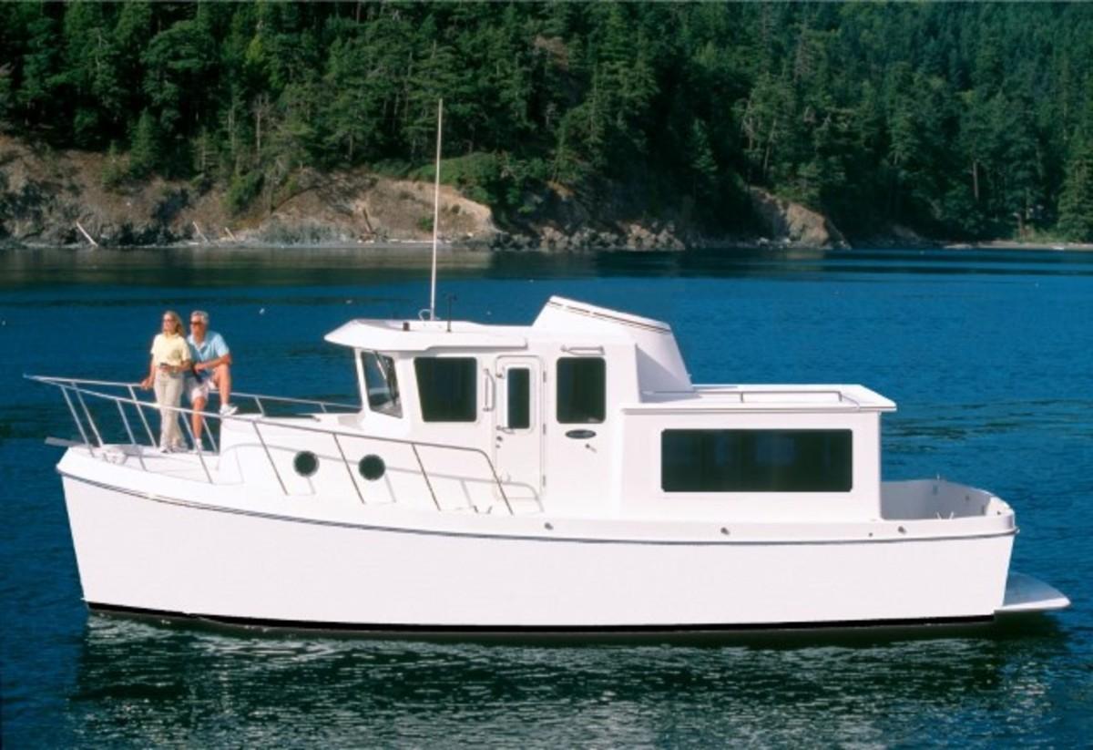 Rendering of Tomco Marine's Waypoint 36 profile.