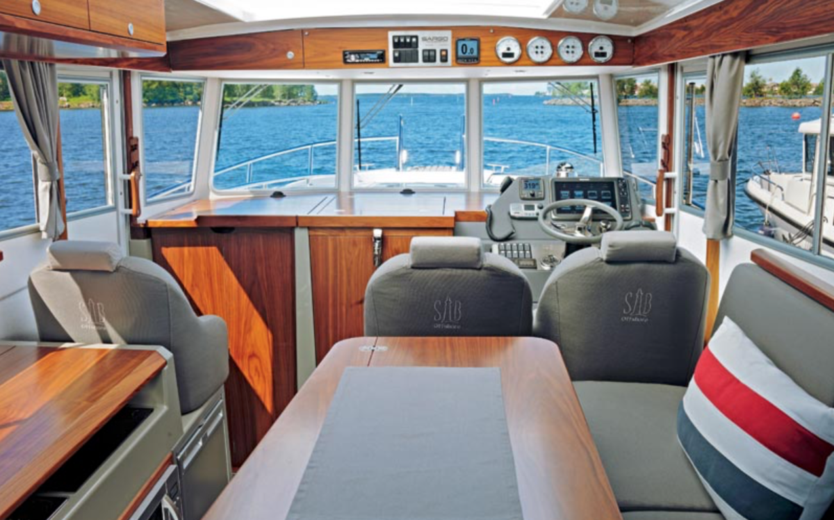 Sargo 36 View from the Saloon