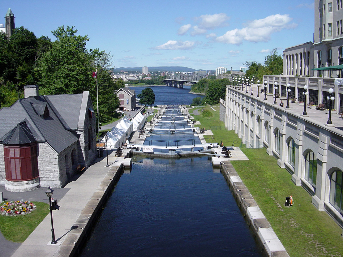 Rideau Canal locks in Ottawa.