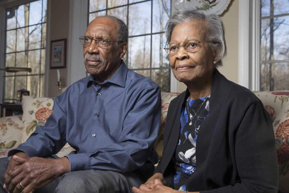 A recent photo of Gladys West and her husband, Ira.