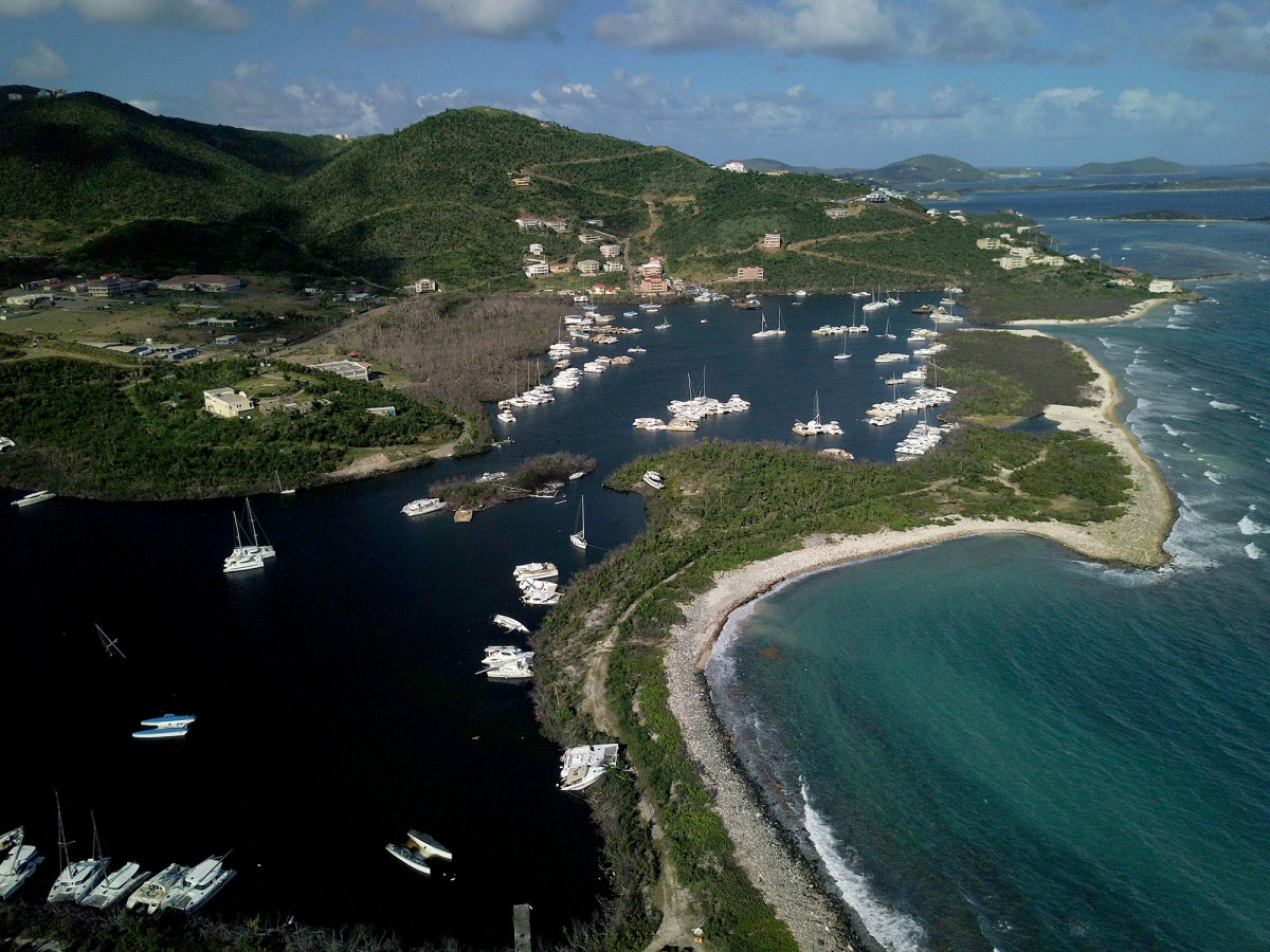 Paraquita Bay was the main hurricane hole in the BVI; it suffered a direct hit from Hurricane Irma and three months later boats are still being salvaged.