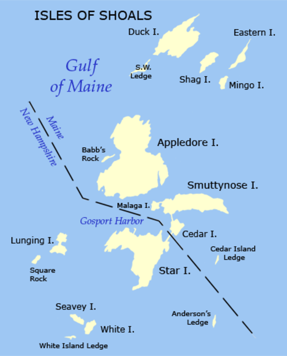 "In the 1970s the U.S. Supreme Court drew the boundary between Maine in New Hampshire after a ""war"" between the states' lobstermen."