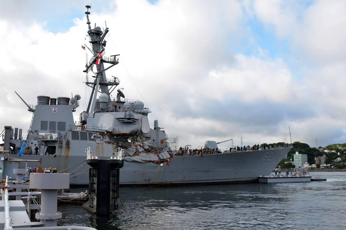 "The USS Fitzgerald collided with the Philippine container ship, MV ACX Crystal, on June 17, 2017 at 1:30 in the morning. The US Navy noted ""physical lookout duties"" were not performed in their incident report on the accident."
