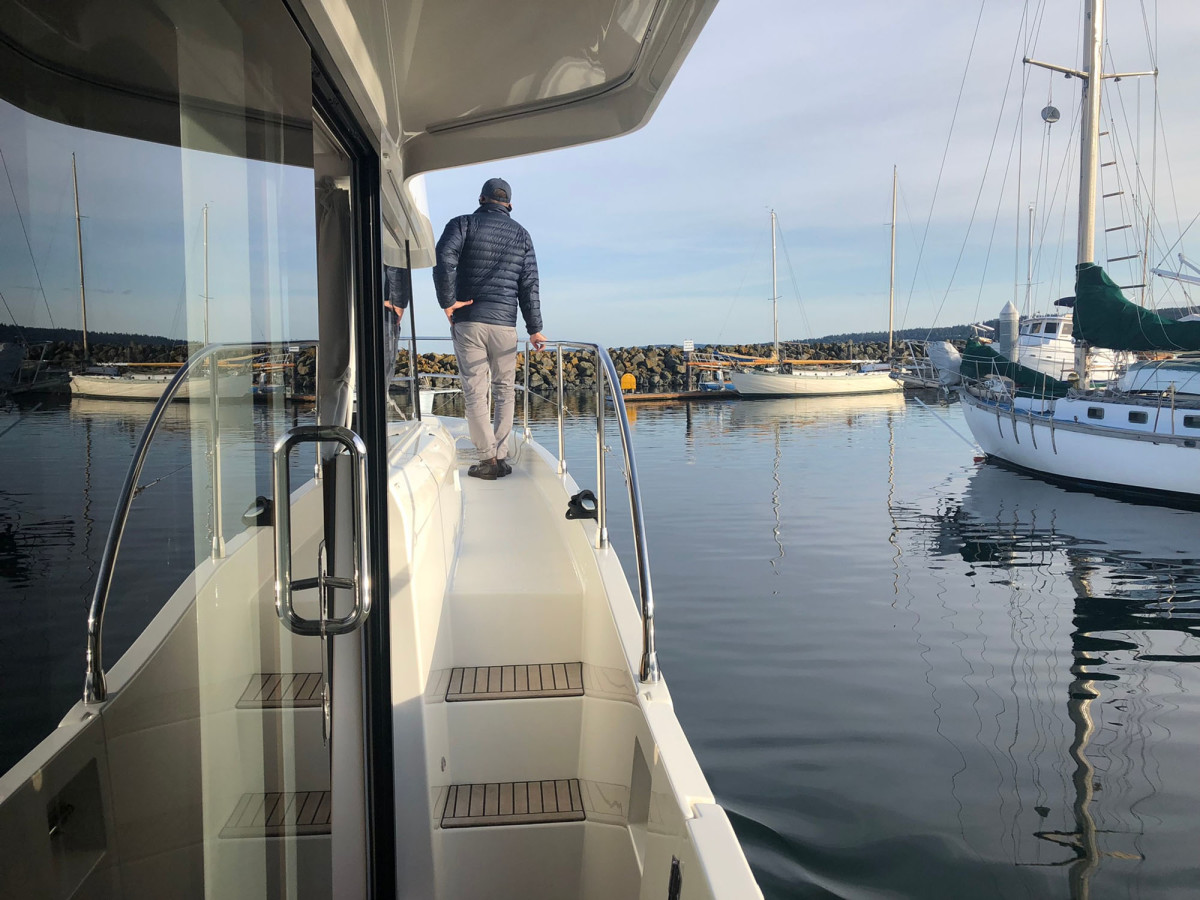 Departing Port Townsend