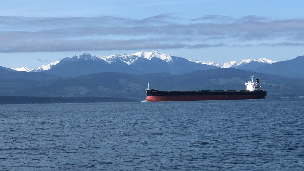 The sights as the ST 47 crew transited through the Straits of Juan de Fuca.